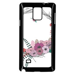 Flowers Twig Corolla Wreath Lease Samsung Galaxy Note 4 Case (black) by Nexatart