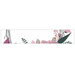 Flowers Twig Corolla Wreath Lease Flano Scarf (large)