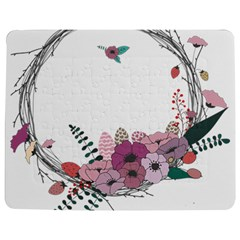 Flowers Twig Corolla Wreath Lease Jigsaw Puzzle Photo Stand (rectangular)