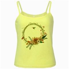 Flowers Twig Corolla Wreath Lease Yellow Spaghetti Tank