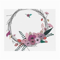 Flowers Twig Corolla Wreath Lease Small Glasses Cloth (2 Side)