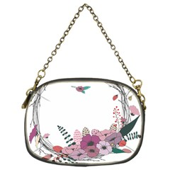 Flowers Twig Corolla Wreath Lease Chain Purses (two Sides)  by Nexatart