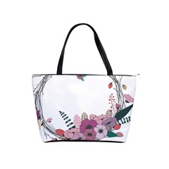 Flowers Twig Corolla Wreath Lease Shoulder Handbags by Nexatart