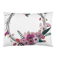 Flowers Twig Corolla Wreath Lease Pillow Case (two Sides)