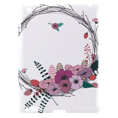 Flowers Twig Corolla Wreath Lease Apple Ipad 3/4 Hardshell Case (compatible With Smart Cover) by Nexatart