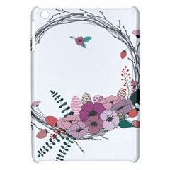 Flowers Twig Corolla Wreath Lease Apple Ipad Mini Hardshell Case by Nexatart