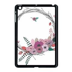 Flowers Twig Corolla Wreath Lease Apple Ipad Mini Case (black) by Nexatart