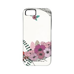 Flowers Twig Corolla Wreath Lease Apple Iphone 5 Classic Hardshell Case (pc+silicone)
