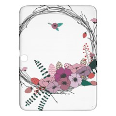 Flowers Twig Corolla Wreath Lease Samsung Galaxy Tab 3 (10 1 ) P5200 Hardshell Case  by Nexatart
