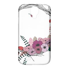 Flowers Twig Corolla Wreath Lease Samsung Galaxy S4 Classic Hardshell Case (pc+silicone)