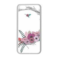 Flowers Twig Corolla Wreath Lease Apple Iphone 5c Seamless Case (white)