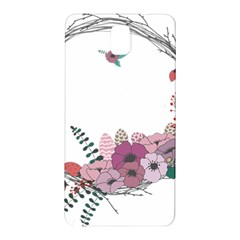 Flowers Twig Corolla Wreath Lease Samsung Galaxy Note 3 N9005 Hardshell Back Case by Nexatart