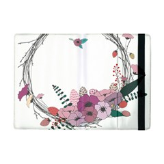 Flowers Twig Corolla Wreath Lease Ipad Mini 2 Flip Cases by Nexatart