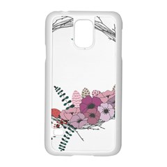 Flowers Twig Corolla Wreath Lease Samsung Galaxy S5 Case (white) by Nexatart