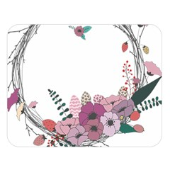 Flowers Twig Corolla Wreath Lease Double Sided Flano Blanket (large)  by Nexatart