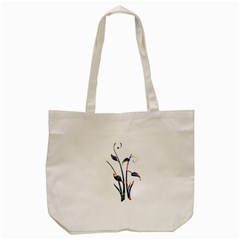 Flora Abstract Scrolls Batik Design Tote Bag (cream) by Nexatart