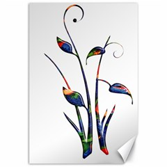 Flora Abstract Scrolls Batik Design Canvas 20  X 30   by Nexatart