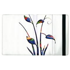 Flora Abstract Scrolls Batik Design Apple Ipad 3/4 Flip Case