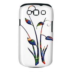 Flora Abstract Scrolls Batik Design Samsung Galaxy S Iii Classic Hardshell Case (pc+silicone)