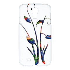 Flora Abstract Scrolls Batik Design Samsung Galaxy S4 I9500/i9505 Hardshell Case