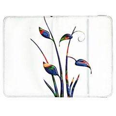 Flora Abstract Scrolls Batik Design Samsung Galaxy Tab 7  P1000 Flip Case by Nexatart