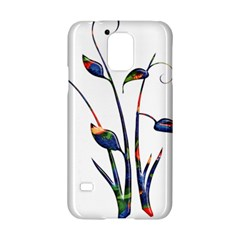 Flora Abstract Scrolls Batik Design Samsung Galaxy S5 Hardshell Case  by Nexatart
