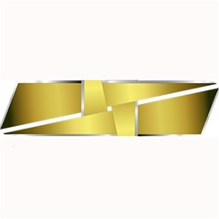 Logo Cross Golden Metal Glossy Large Bar Mats