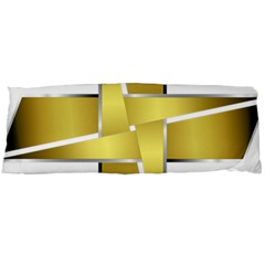 Logo Cross Golden Metal Glossy Body Pillow Case (dakimakura)