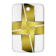 Logo Cross Golden Metal Glossy Samsung Galaxy Note 8 0 N5100 Hardshell Case  by Nexatart