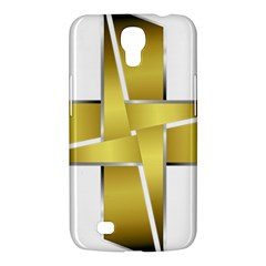 Logo Cross Golden Metal Glossy Samsung Galaxy Mega 6 3  I9200 Hardshell Case by Nexatart
