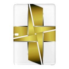 Logo Cross Golden Metal Glossy Samsung Galaxy Tab Pro 12 2 Hardshell Case