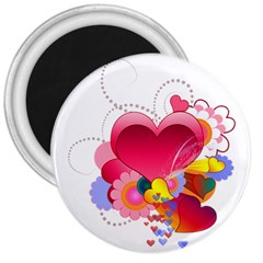 Heart Red Love Valentine S Day 3  Magnets by Nexatart