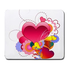 Heart Red Love Valentine S Day Large Mousepads