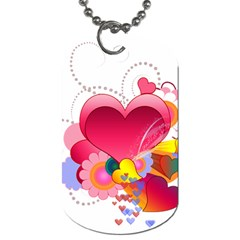 Heart Red Love Valentine S Day Dog Tag (two Sides)