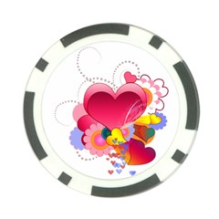Heart Red Love Valentine S Day Poker Chip Card Guard