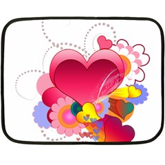 Heart Red Love Valentine S Day Fleece Blanket (mini) by Nexatart
