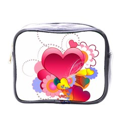 Heart Red Love Valentine S Day Mini Toiletries Bags by Nexatart