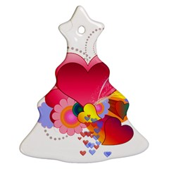 Heart Red Love Valentine S Day Ornament (christmas Tree)