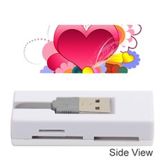 Heart Red Love Valentine S Day Memory Card Reader (stick)  by Nexatart