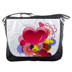 Heart Red Love Valentine S Day Messenger Bags
