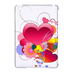 Heart Red Love Valentine S Day Apple Ipad Mini Hardshell Case (compatible With Smart Cover)