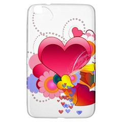 Heart Red Love Valentine S Day Samsung Galaxy Tab 3 (8 ) T3100 Hardshell Case