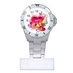 Heart Red Love Valentine S Day Plastic Nurses Watch by Nexatart
