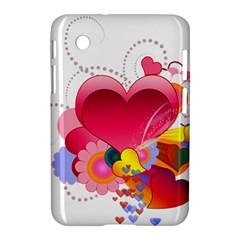 Heart Red Love Valentine S Day Samsung Galaxy Tab 2 (7 ) P3100 Hardshell Case  by Nexatart