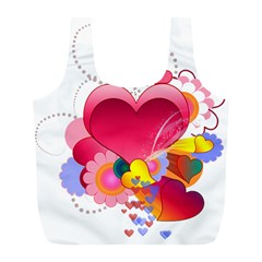 Heart Red Love Valentine S Day Full Print Recycle Bags (l)  by Nexatart
