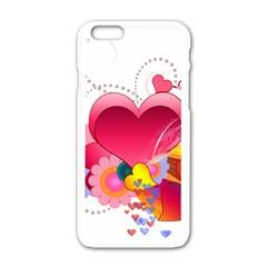 Heart Red Love Valentine S Day Apple Iphone 6/6s White Enamel Case by Nexatart