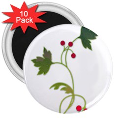 Element Tag Green Nature 3  Magnets (10 Pack)