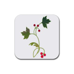 Element Tag Green Nature Rubber Square Coaster (4 Pack)