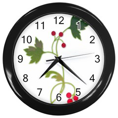 Element Tag Green Nature Wall Clocks (black)