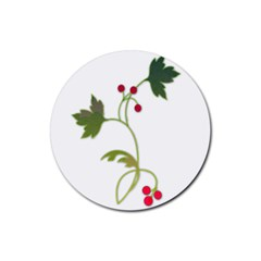 Element Tag Green Nature Rubber Coaster (round)